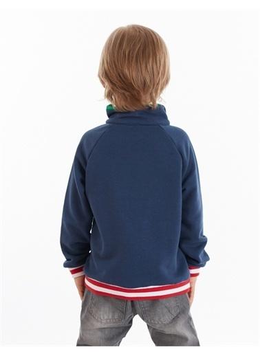 Mushi Never Fermuarlı Erkek Çocuk Sweatshirt Lacivert